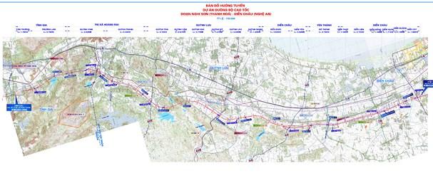 Bản đồ cao tốc Thanh Hóa - Hà Tĩnh