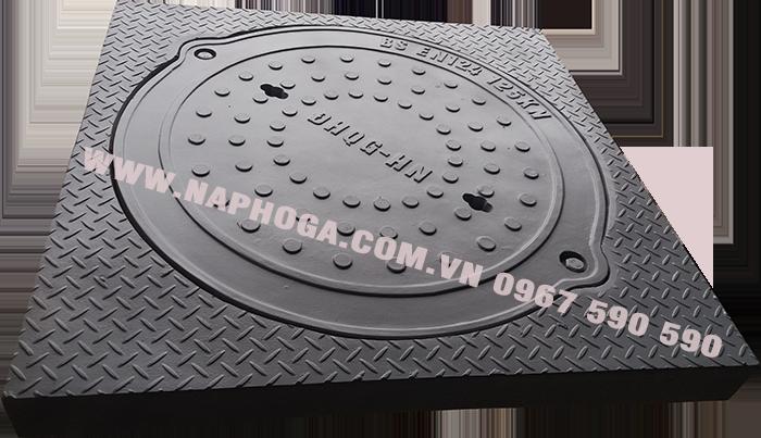 Nắp hố ga composite khung dương kích thước 900x900mm
